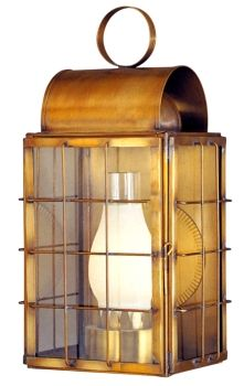 Newport Harbor Wall Mount Copper Lantern
