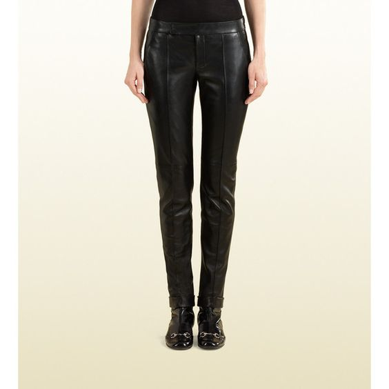 Gucci Cuffed Leather Pant