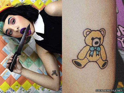 Melanie Martinez S 35 Tattoos Meanings Steal Her Style Page 4 Melanie Martinez Melanie Teddy Bear Tattoos