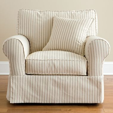 Linden Street Friday Stripe Slipcovered Chair Jcpenney