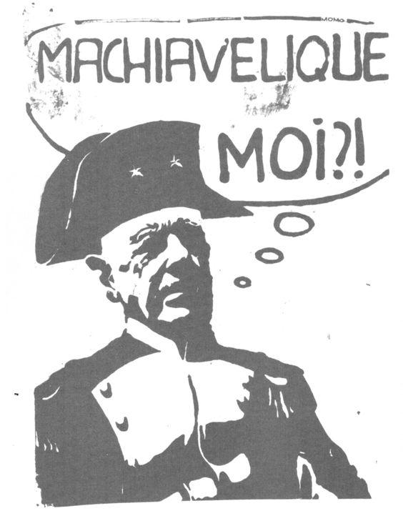 1968 mai Machiavélique moi. Affiche de l'atelier populaire des Beaux-arts