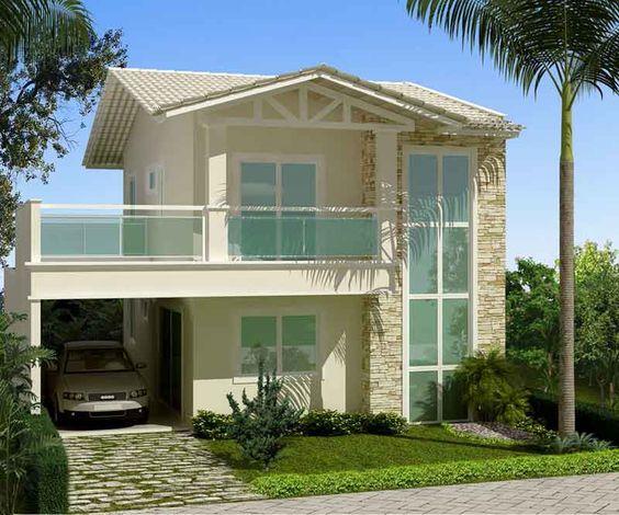 casas de telhados coloniais pesquisa google fachadas ForAntejardines De Casas Pequenas