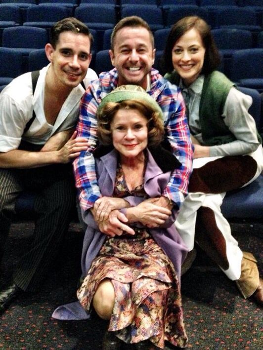 The cast of Gypsy