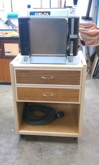 Planer stand/cart - by Rob Vicelli @ LumberJocks.com ~ woodworking community