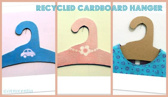 recycled cardboard hanger