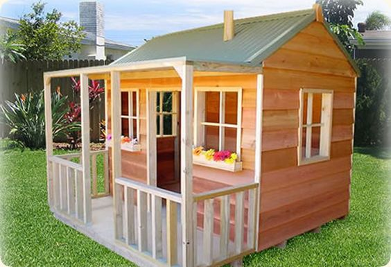 Simple playhouse plans wallaby lodge cubby house yard for Simple outdoor playhouse plans