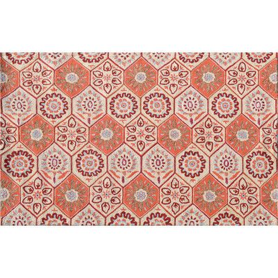 Threadbind Huntington Hand-Hooked Orange Area Rug Rug Size: