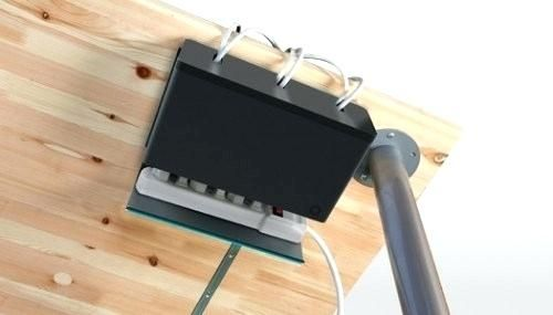 Desk Wire Organizer Wall Hanging Organizer Desk Organizer Wall Mounted Desk Wall Pertaining To Under Desk Org Cable Organizer Cord Organization Cord Management