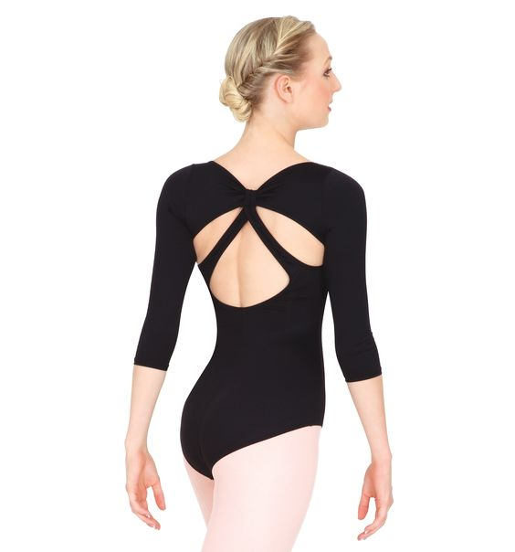3/4 Sleeve Leotard with Back Strap - Style Number: N8625 Discount Dance Supply