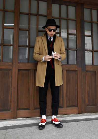 Zara Chester Field Coat, Uniqlo Suit, Image Brogue Shoes