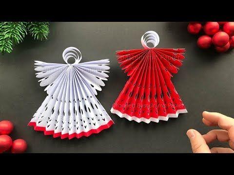 Weihnachten Basteln Mit Papier Weihnachtsengel Als
