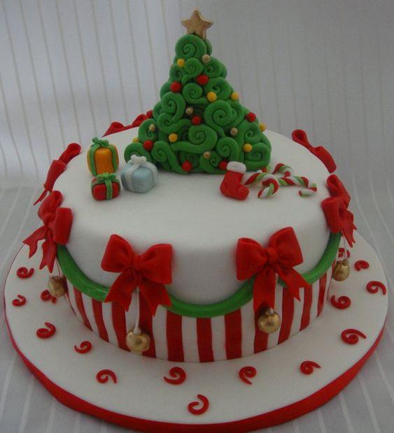 Baños Decorados Navidenos:Xmas cake – by Nadia @ CakesDecorcom – cake decorating website