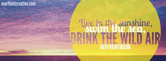"""""""Live In The Sunshine, Swim The Sea, Drink The Wild Air"""