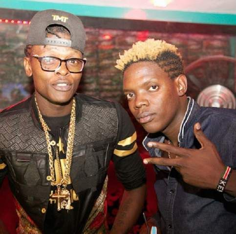 Eric and Jose Chameleone have been spotted hanging out in Nairobi night clubs , taking photos