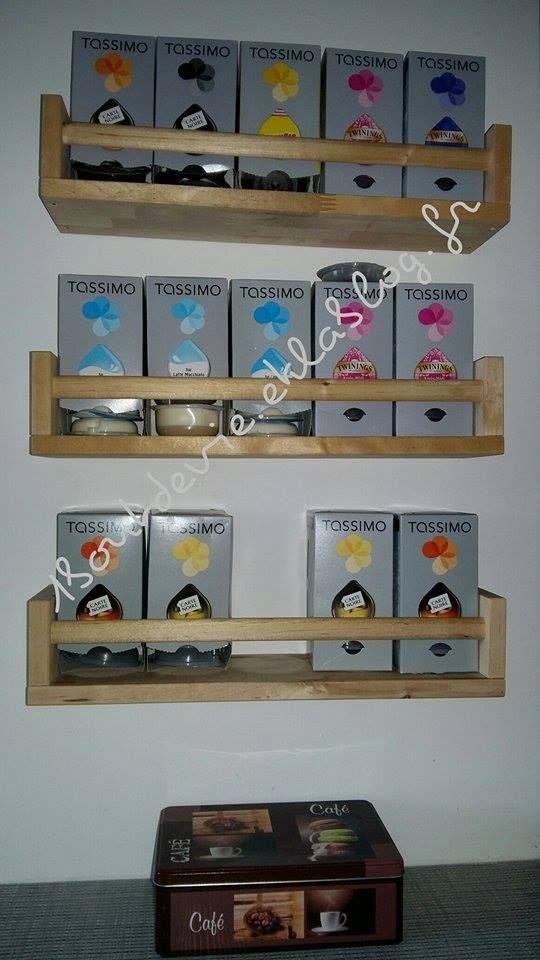 ranger ses dosettes tassimo avec les tag res ikea organisation pinterest ranger et ikea. Black Bedroom Furniture Sets. Home Design Ideas