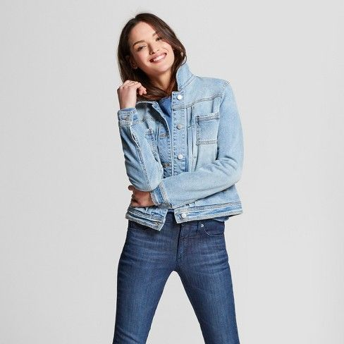 Women S Denim Jacket Universal Thread 153 Blue Denim Jacket Women Double Denim Denim Jacket