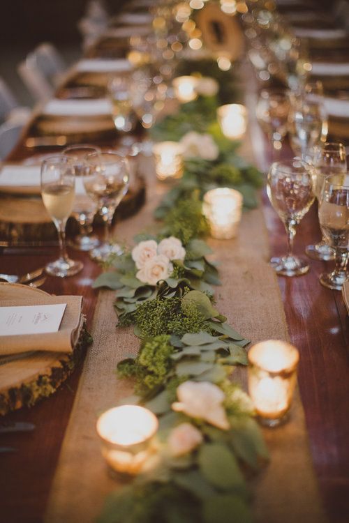 Garland Centerpieces Greenery Centerpieces Wedding Tablescape