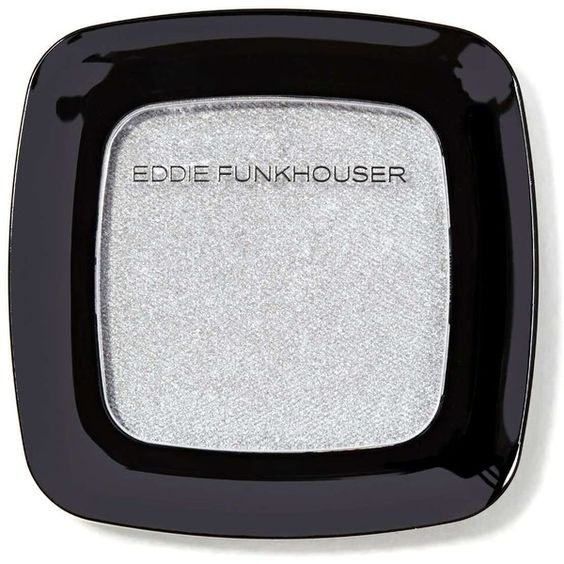 Eddie Funkhouser Hyperreal Eye Shadow - Silver Lining ($4) ❤ liked on Polyvore featuring beauty products, makeup, eye makeup, eyeshadow, beauty, eyes and silver lining