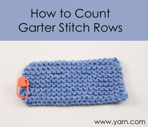 Knitting Extra Stitch Each Row : Garter stitch, Garter and Count on Pinterest