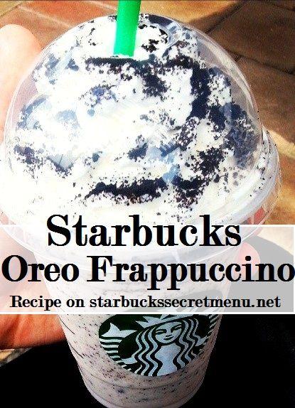 Starbucks Secret Menu Oreo Frappuccino!   Recipe here: http://starbuckssecretmenu.net/starbucks-secret-menu-cookies-and-cream-frappuccino/ @AnnieLoveAJ☽♥☾