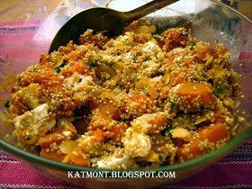 Ajustando as velas: Salada de quinoa com abóbora e queijo feta - Quinoa à la courge butternut et à la feta