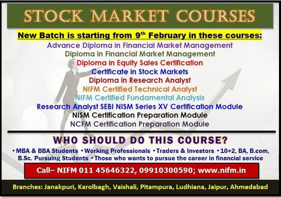 nifm is the no institute for diploma in financial market  nifm is the no 1 institute for diploma in financial market management offers a complete solution for security market courses join now and get