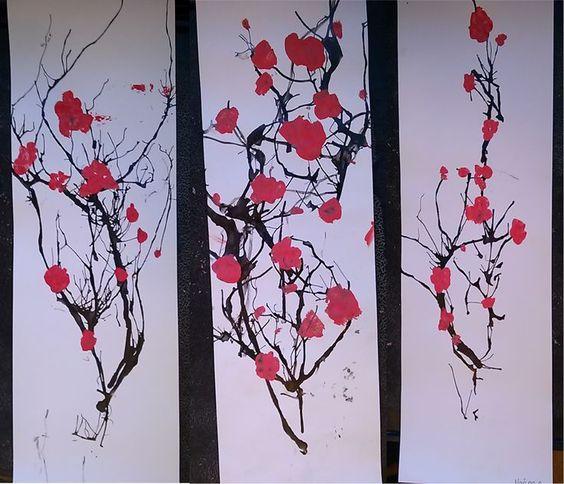Encre de chine soufflée | arts plastiques | Pinterest | Art