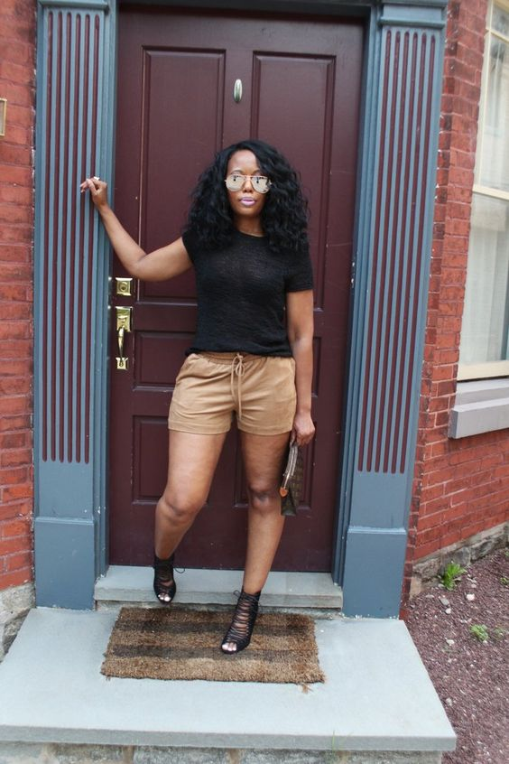 How To Style Faux Suede Shorts