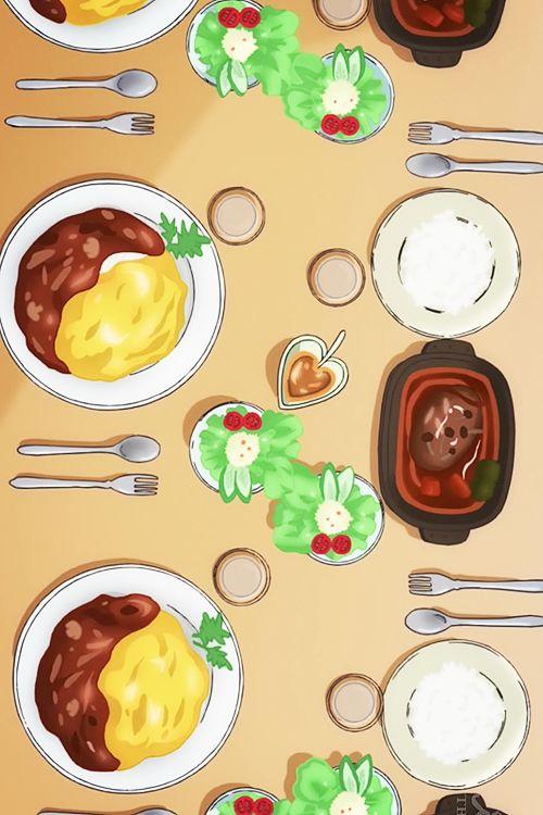 Acchi kocchi anime food pinterest yummy food posts for Animation cuisine