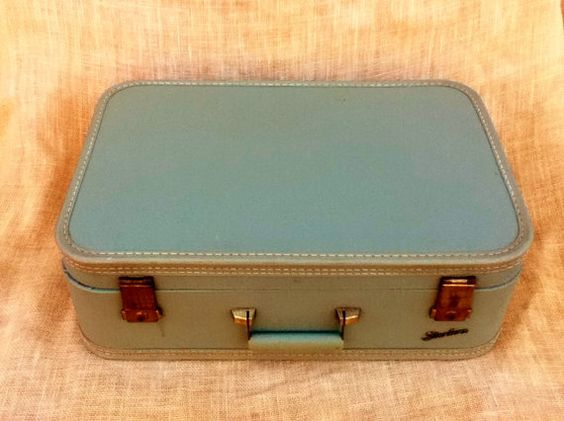 Suitcase Luggage Photo Prop Storage by PunchedupPatina on Etsy, $18.00