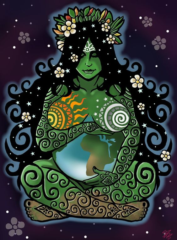 'The Goddess is not just an ancient statue or an energetic archetype, she is present us, in the beauty of nature, in every living creature and leaf of plant. Begin to see her life giving energy, feel it in your own body, she is the joy of movement, and the single falling tear, she is the sacred feminine inhabiting both women and men and she has returned to offer us a gift - a gift to reclaim this planet as heaven on earth through the energetic vibration of love.' - Earth Mother by ORUPSIA: