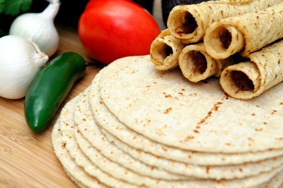 Receta de tortilla de harina