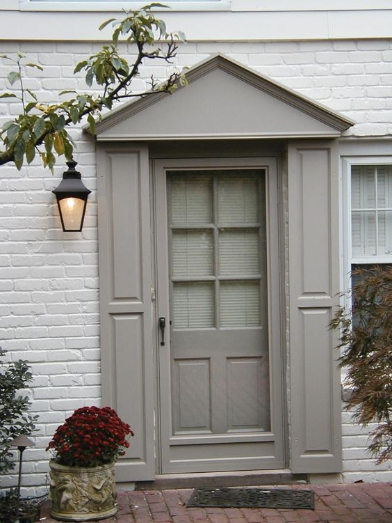 Lovely color combo front door shutters zee set wood products exterior shutters and hardware - Painted brick exterior pictures set ...