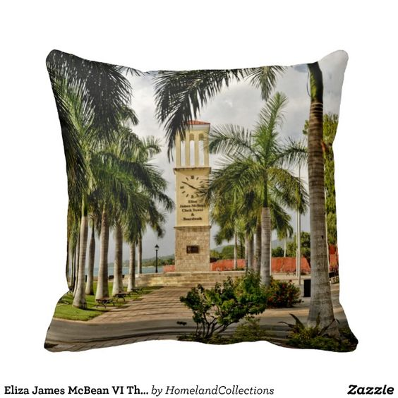 "Check out what I bought Eliza James McBean VI Throw Pillow 16"" x 16"" Very nice."
