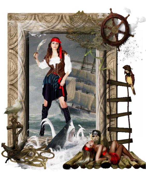 The women of the pirates - Diese  Collage wurde erstellt von Gerd Schremer