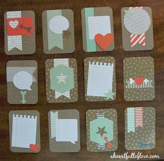 a collection of cute handmade #projectlife cards that you can make using the Hip Hip Hooray Card kit #scrapbooking