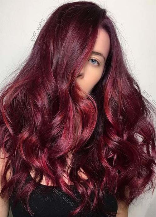 100 Dark Hair Colors For Winter Red Brown Dark Blond Nel 2020