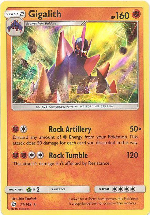 Pokemon Gigalith 71//149 Sun /& Moon HOLO PERFECT MINT