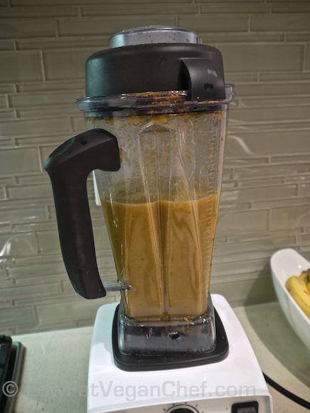 How To Make Dr. Joel Fuhrman's Eat To Live Anti Cancer Split Pea Mushroom Soup Blending Soup In Vitamix