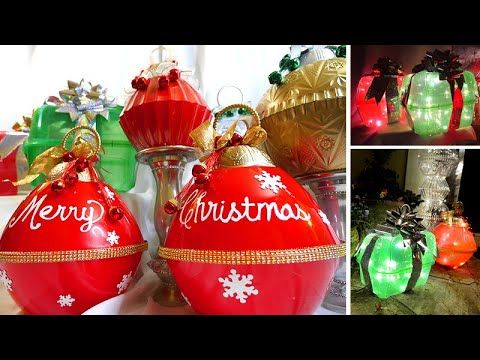 Large Colorful Outdoor Ornaments That Light Up Dollar Tree Diy Large Outdoor Christmas Ornaments Dollar Store Christmas Crafts Outdoor Christmas Diy