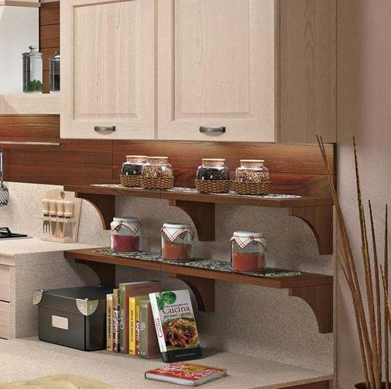 Come organizzare cibi e spazi nella vostra cucina: le mensole ...