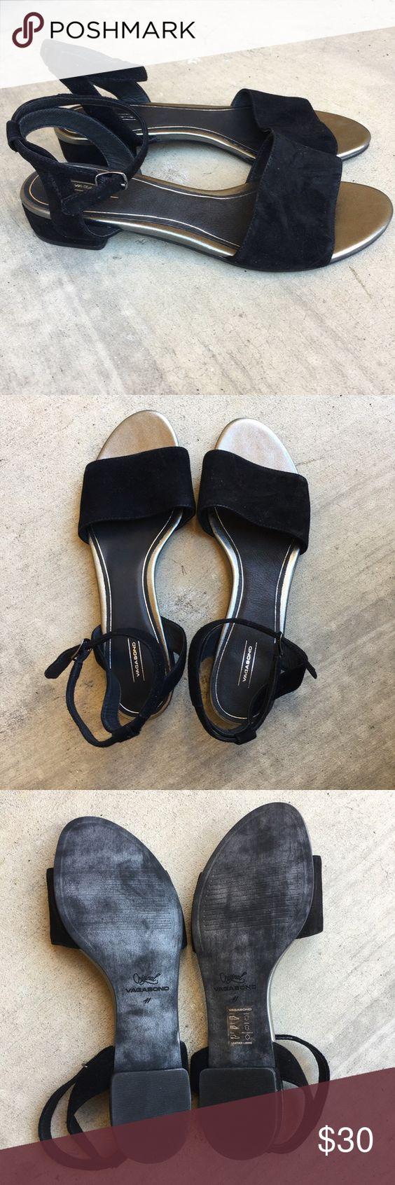 Black sandals size 11 - Size 11 Black Leather Vagabond Sandals Size 10 Black Leather Sandals By Vagabond Purchased