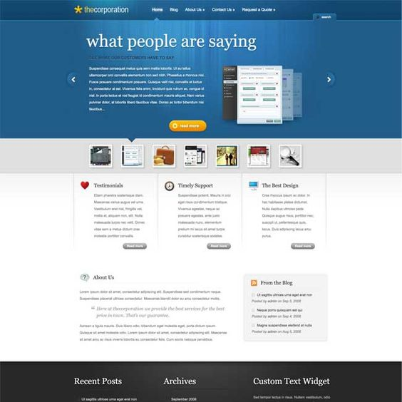 The Corporation WordPress Theme By Elegant Themes | WordPress Themes Review 2015