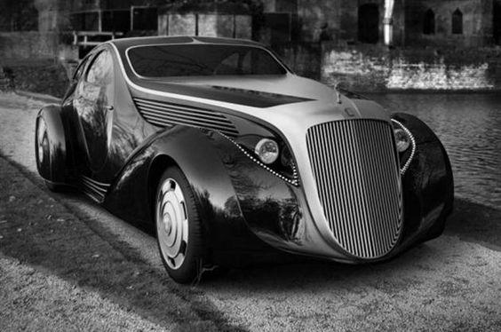 Rolls-Royce Jonckheere Aerodynamic Coupe II. Phantom de 1925 base.  By Henri Jonckheere.