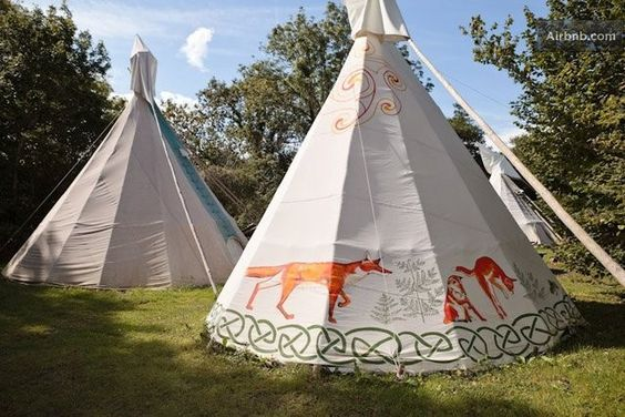 2 person tipi in Trelill St Kew from $107 per night