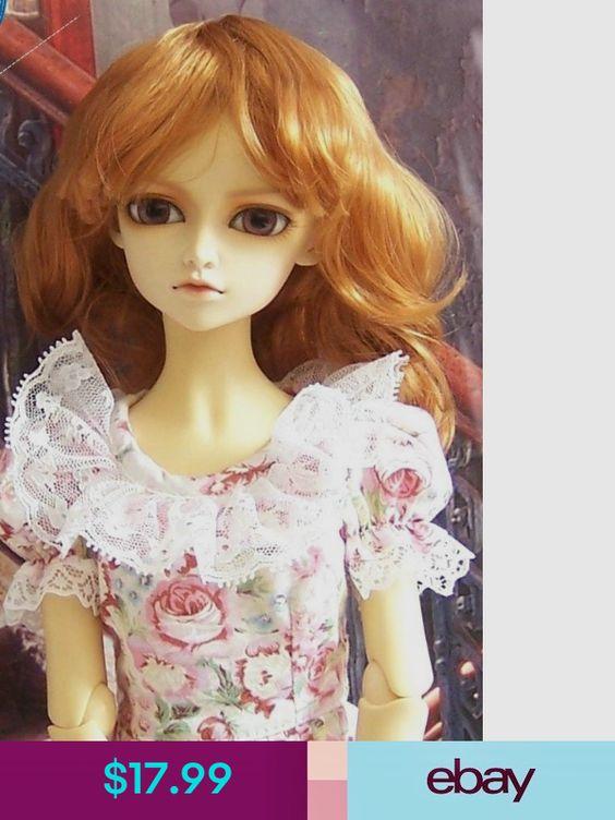 """8-9/"""" Long Carrot 1//3 SD DOD DZ AS BJD Super Dollfie Doll  Wig"""