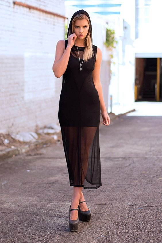 Massacre Hooded Maxi Dress - LIMITED – Black Milk Clothing