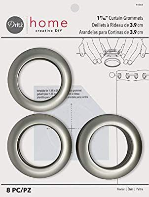 Amazon Com Dritz Home 44368 Round Curtain Grommets 1 9 16 Inch Pewter 8 Piece Arts Crafts Sewing Grommet Curtains Curtains Sewing Crafts