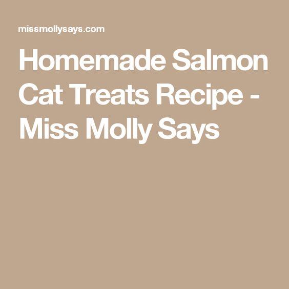 Homemade Salmon Cat Treats Recipe - Miss Molly Says