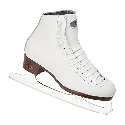 Riedell Model 17 Girls Ice Skates With Spiral Blade Size 11 1 2 Med Womens Figure Skates Girls Boots Figure Skate Boots